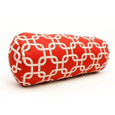 Danko Indoor/Outdoor Bolster Pillow Color: Red