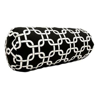 Banas Indoor/Outdoor Bolster Pillow Color: Black