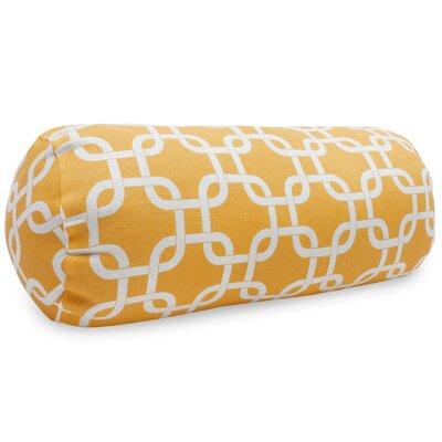 Banas Indoor/Outdoor Bolster Pillow Color: Yellow