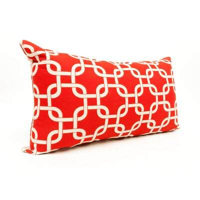 Danko Outdoor Lumbar Pillow Color: Red