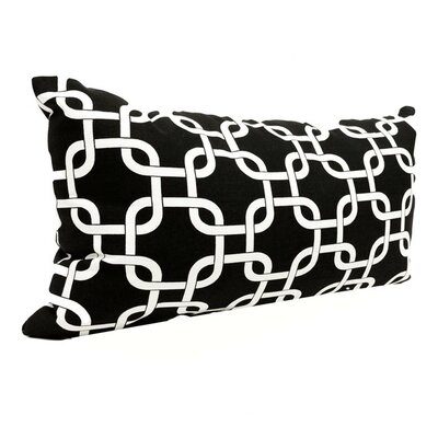 Danko Outdoor Lumbar Pillow Color: Black