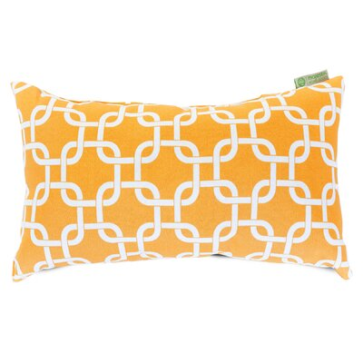 Danko Indoor/Outdoor Lumbar Pillow Color: Yellow