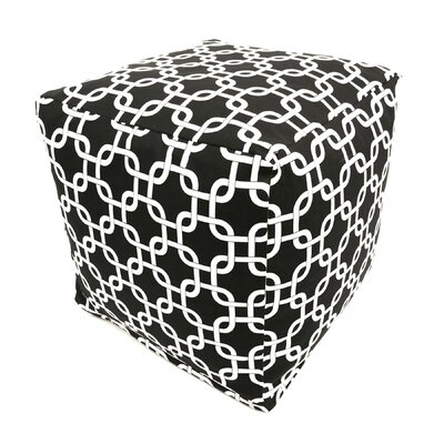 Danko Pouf Ottoman Color: Black