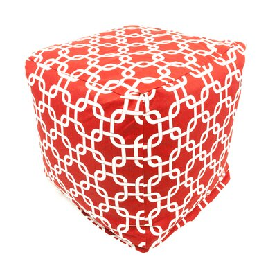 Danko Pouf Ottoman Color: Red