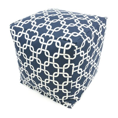 Danko Pouf Ottoman Color: Navy Blue