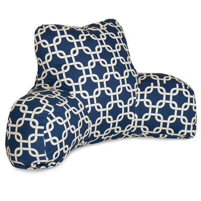 Danko Indoor/Outdoor Bed Rest Pillow Color: Navy Blue