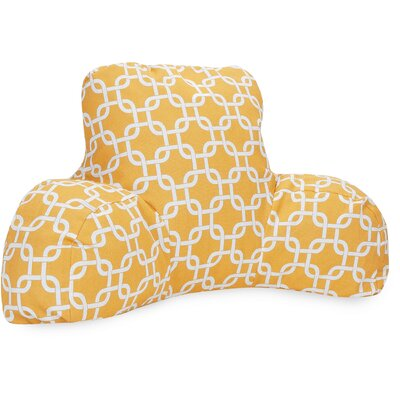 Danko Indoor/Outdoor Bed Rest Pillow Color: Yellow