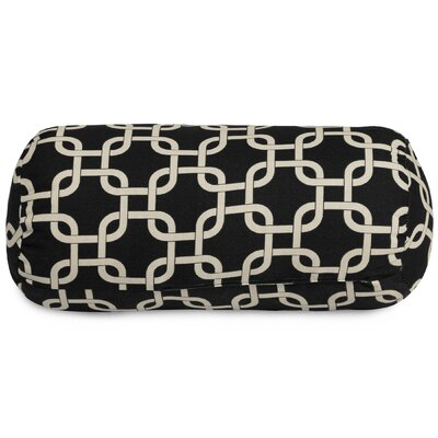 Banas Indoor/Outdoor Bolster Pillow Color: Black