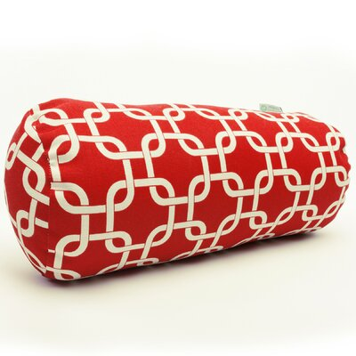 Banas Indoor/Outdoor Bolster Pillow Color: Red