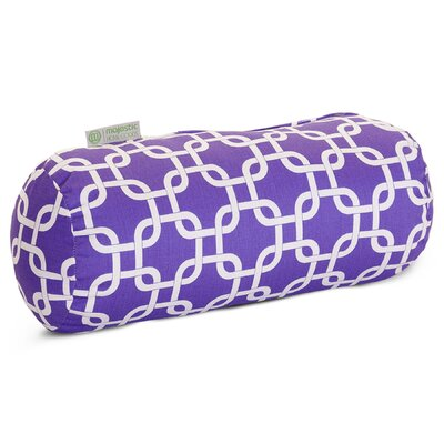 Banas Indoor/Outdoor Bolster Pillow Color: Purple