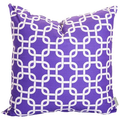 Banas Indoor/Outdoor Throw Pillow Size: Large, Color: Purple