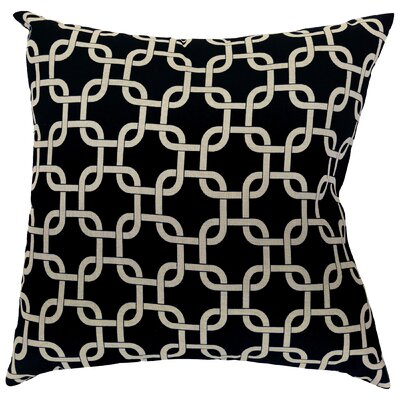 Banas Indoor/Outdoor Throw Pillow Size: Large, Color: Black