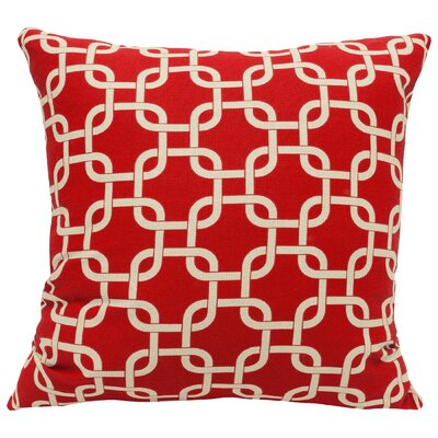 Banas Indoor/Outdoor Throw Pillow Size: Large, Color: Red