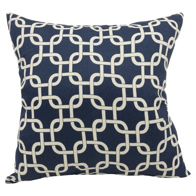 Danko Indoor/Outdoor Throw Pillow Color: Navy Blue, Size: Extra Large