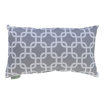 Banas Indoor/Outdoor Lumbar Pillow Fabric: Gray