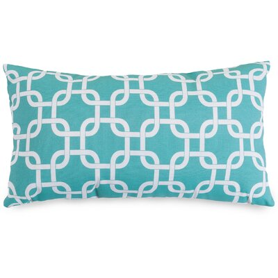 Danko Indoor/Outdoor Lumbar Pillow Fabric: Teal