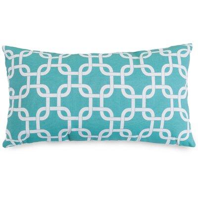 Banas Indoor/Outdoor Lumbar Pillow Fabric: Teal