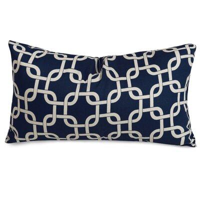 Danko Outdoor Lumbar Pillow Color: Navy Blue