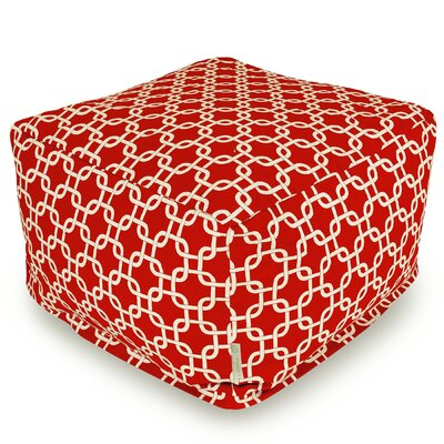Banas Large Pouf Upholstery Color: Red