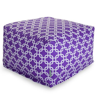 Banas Large Pouf Upholstery Color: Purple