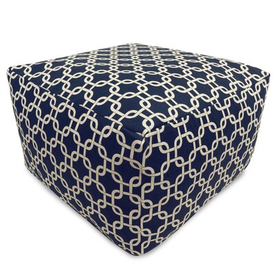Banas Large Pouf Upholstery Color: Navy Blue