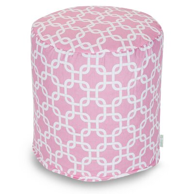 Danko Small Pouf Ottoman Upholstery Color: Soft Pink