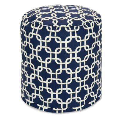 Danko Small Pouf Ottoman Upholstery Color: Navy Blue