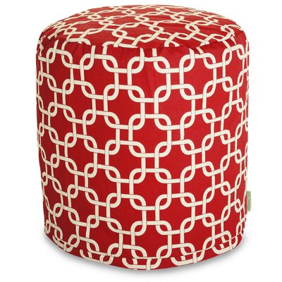 Banas Small Pouf Upholstery Color: Red
