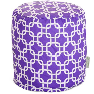 Danko Small Pouf Ottoman Upholstery Color: Purple
