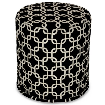 Danko Small Pouf Ottoman Upholstery Color: Black
