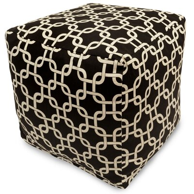 Banas Small Pouf Upholstery Color: Black