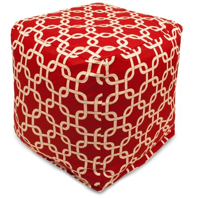 Danko Small Cube Ottoman Upholstery Color: Red