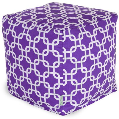 Danko Small Cube Ottoman Upholstery Color: Purple