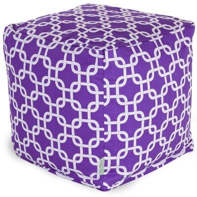 Banas Small Pouf Upholstery Color: Purple