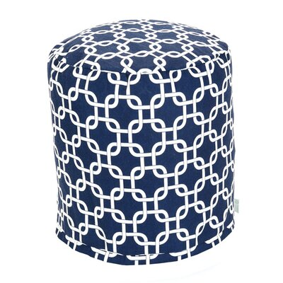 Danko Small Pouf Fabric: Navy Blue