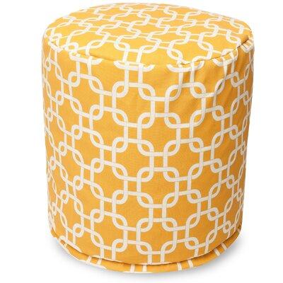 Danko Small Pouf Fabric: Yellow