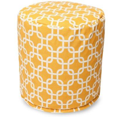 Danko Small Pouf Fabric: Yellow