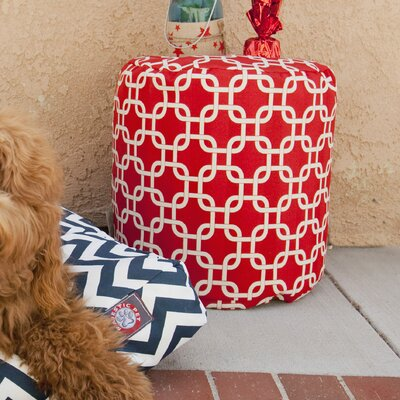 Danko Small Pouf Fabric: Red