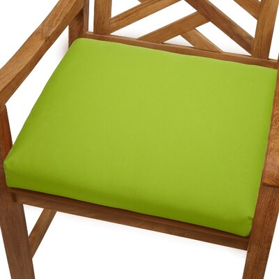 Mcclain Outdoor Sunbrella Dining Chair Cushion Fabric: Macaw Green, Size: 20 x 20