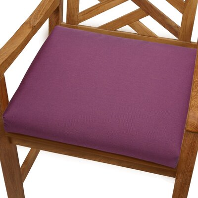 Mcclain Outdoor Sunbrella Dining Chair Cushion Fabric: Iris, Size: 20 x 20
