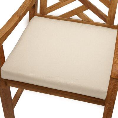 Mcclain Outdoor Sunbrella Dining Chair Cushion Fabric: Beige, Size: 20 x 20