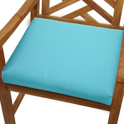 Mcclain Outdoor Sunbrella Dining Chair Cushion Fabric: Aruba Blue, Size: 20 x 20
