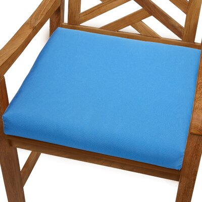Mcclain Outdoor Sunbrella Dining Chair Cushion Fabric: Capri Blue, Size: 20 x 20