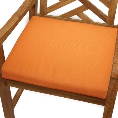 Mcclain Outdoor Sunbrella Dining Chair Cushion Fabric: Tangerine, Size: 20 x 20