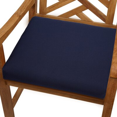 Mcclain Outdoor Sunbrella Dining Chair Cushion Size: 19 x 19, Fabric: Navy