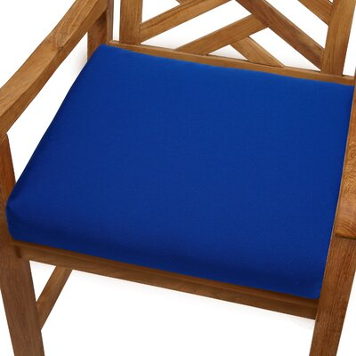 Mcclain Outdoor Sunbrella Dining Chair Cushion Fabric: True Blue, Size: 20 x 20