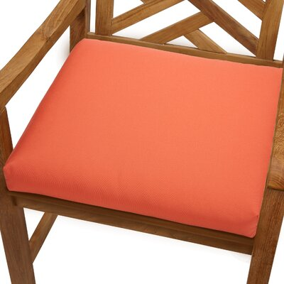 Mcclain Outdoor Sunbrella Dining Chair Cushion Fabric: Melon, Size: 20