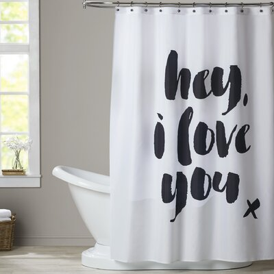 Ferree Hey I Love You Shower Curtain