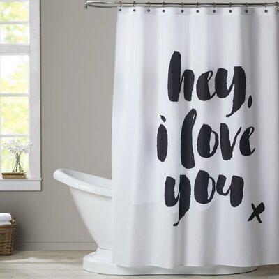 Ferree Hey I Love You Shower Curtain