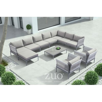 Stylish Alfaro Deep Seating Group Cushions - Product picture - 60